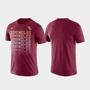 Florida State Seminoles T-Shirt Performance Garnet Men Fade