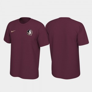 Florida State Seminoles T-Shirt Left Chest Logo Mens Garnet Legend