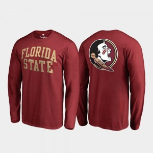 Florida State Seminoles T-Shirt Garnet Long Sleeve Mens Primetime