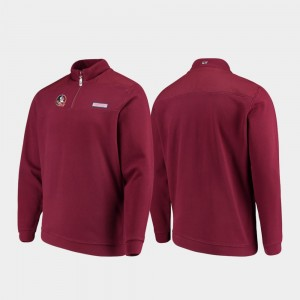 Florida State Seminoles Jacket Garnet Quarter-Zip For Men's Shep Shirt