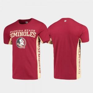 Florida State Seminoles T-Shirt Mens Garnet Side Bar