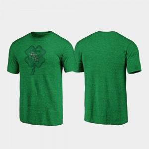 Florida State Seminoles T-Shirt Green Men's St. Patrick's Day Celtic Charm Tri-Blend