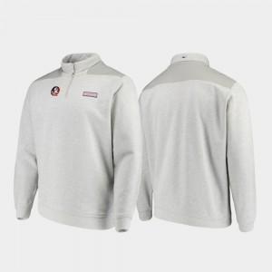 Florida State Seminoles Jacket Men Quarter-Zip Heathered Gray Shep Shirt