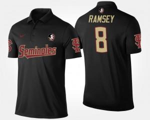 Florida State Seminoles Jalen Ramsey Polo Black For Men's #8