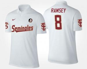 Florida State Seminoles Jalen Ramsey Polo Mens White #8