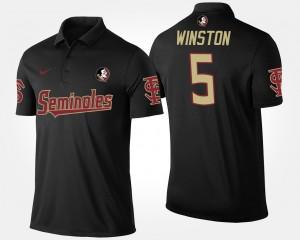 Florida State Seminoles Jameis Winston Polo For Men Black #5