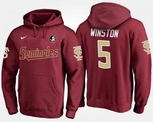 Florida State Seminoles Jameis Winston Hoodie Garnet Men's #5