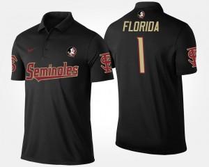 Florida State Seminoles Polo No.1 Short Sleeve Mens #1 Black