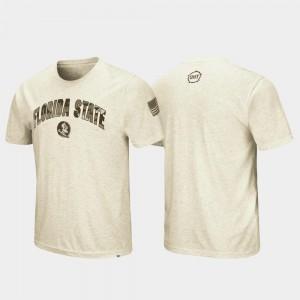 Florida State Seminoles T-Shirt Oatmeal OHT Military Appreciation Desert Camo Mens