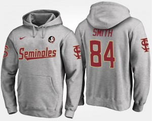 Florida State Seminoles Rodney Smith Hoodie For Men #84 Gray