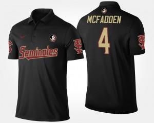 Florida State Seminoles Tarvarus McFadden Polo #4 Black Men