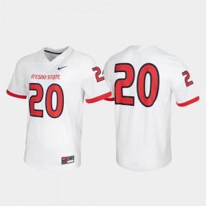 Fresno State Bulldogs Jersey Untouchable #20 For Men's White Game