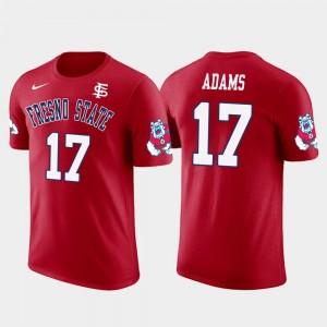 Fresno State Bulldogs Davante Adams T-Shirt Future Stars #17 Green Bay Packers Football For Men Red