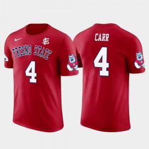 Fresno State Bulldogs Derek Carr T-Shirt Future Stars Oakland Raiders Football #4 For Men's Red