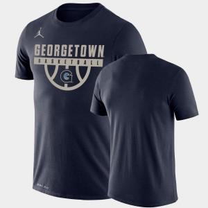 Georgetown Hoyas T-Shirt Drop Legend Navy Performance Basketball Mens