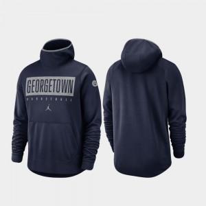 Georgetown Hoyas Hoodie Men Navy Spotlight Basketball