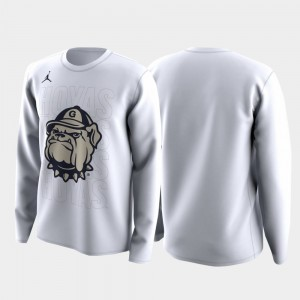 Georgetown Hoyas T-Shirt White March Madness Legend Basketball Long Sleeve Family on Court Men