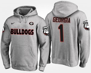 Georgia Bulldogs Hoodie #1 Gray No.1 For Men's