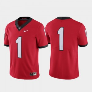Georgia Bulldogs Jersey For Men #1 Limited College Football Red