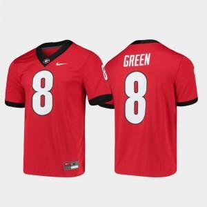 Georgia Bulldogs A.J. Green Jersey For Men Red Game #8 Alumni Player College Football
