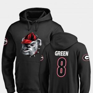 Georgia Bulldogs A.J. Green Hoodie Black Midnight Mascot Football #8 For Men