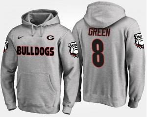 Georgia Bulldogs A.J. Green Hoodie Gray Men's #8