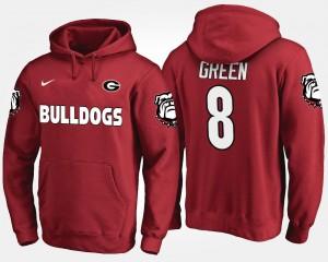 Georgia Bulldogs A.J. Green Hoodie For Men's Red #8