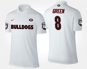 Georgia Bulldogs A.J. Green Polo Men's #8 White