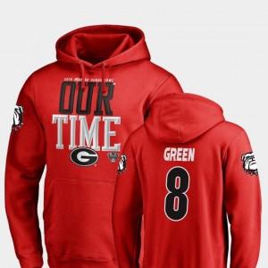 Georgia Bulldogs A.J. Green Hoodie Counter #8 Red 2019 Sugar Bowl Bound Men