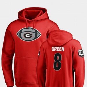 Georgia Bulldogs A.J. Green Hoodie #8 Mens Game Ball Red Football