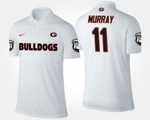 Georgia Bulldogs Aaron Murray Polo Men's White #11