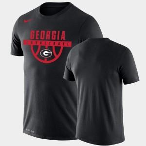 Georgia Bulldogs T-Shirt Black Performance Basketball Drop Legend For Men