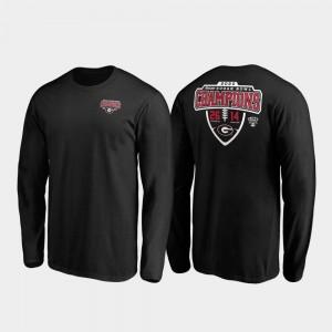 Georgia Bulldogs T-Shirt Men Black Hometown Lateral Long Sleeve 2020 Sugar Bowl Champions