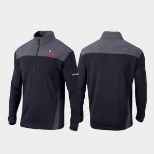 Georgia Bulldogs Jacket For Men's Omni-Wick Standard Black Quarter-Zip Pullover