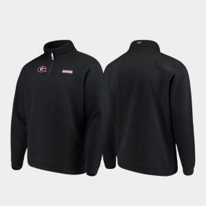Georgia Bulldogs Jacket Black Shep Shirt Quarter-Zip Men's