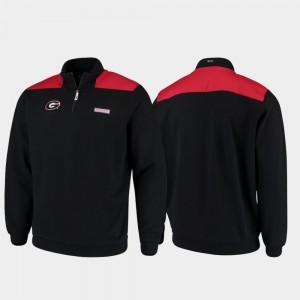 Georgia Bulldogs Jacket For Men Black Shep Shirt Quarter-Zip Pullover