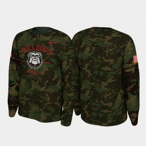 Georgia Bulldogs T-Shirt 2019 Veterans Day Camo For Men Legend Long Sleeve