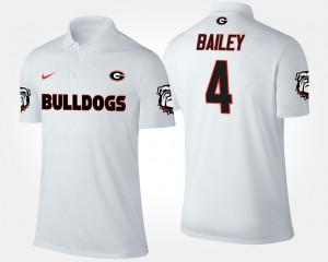 Georgia Bulldogs Champ Bailey Polo White #4 Men