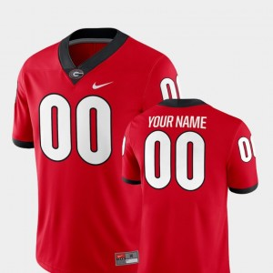 Georgia Bulldogs Custom Jersey #00 2018 Game College Football For Men Red
