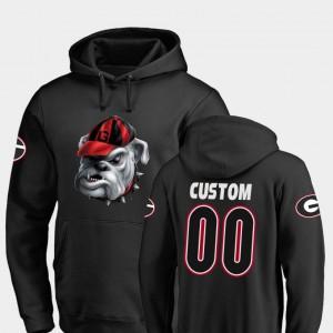 Georgia Bulldogs Custom Hoodie For Men's Midnight Mascot Football Black #00