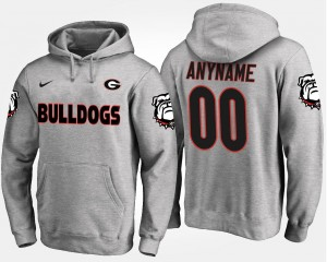 Georgia Bulldogs Customized Hoodies Men Gray #00