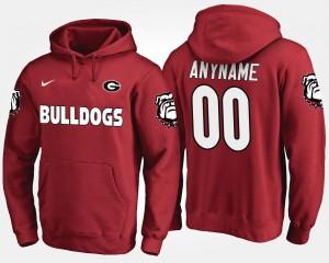Georgia Bulldogs Custom Hoodie Men's #00 Red