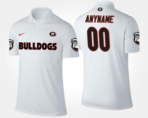 Georgia Bulldogs Customized Polo #00 Men White