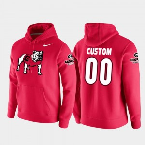 Georgia Bulldogs Customized Hoodie Vault Logo Club Red For Men's College Football Pullover #00
