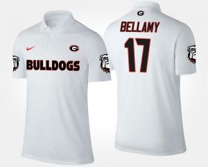 Georgia Bulldogs Davin Bellamy Polo #17 White For Men's