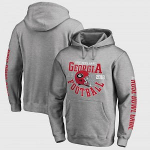 Georgia Bulldogs Hoodie Bowl Game Gray College Football Playoff 2018 Rose Bowl Bound Down For Men