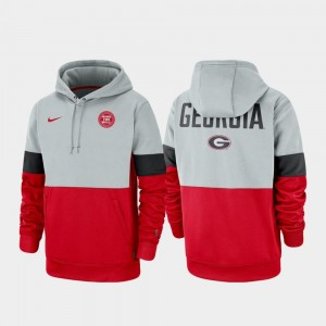 Georgia Bulldogs Hoodie Therma Performance Pullover Rivalry For Men's Gray Red