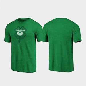 Georgia Bulldogs T-Shirt St. Patrick's Day Mens Celtic Charm Tri-Blend Green
