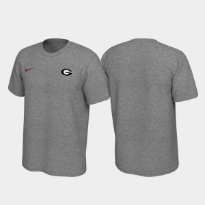 Georgia Bulldogs T-Shirt For Men Legend Heathered Gray Left Chest Logo