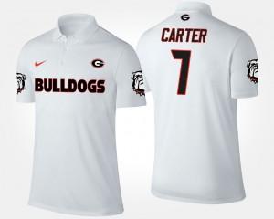 Georgia Bulldogs Lorenzo Carter Polo #7 Mens White